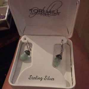 Nib Tori Hill marcasite silver earrings
